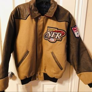 Wrangler NFR 2002 Contestant Jacket Brown & Tan